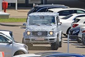 second generation mercedes benz g class makes spy photo debut