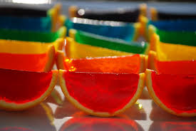 layered rainbow shots my story in recipes rainbow jello slices