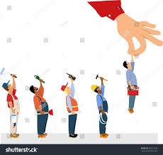 a painter customers hand picking handyman line painter stock vector