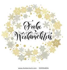 german christmas greeting frohe weihnachten card stock vector