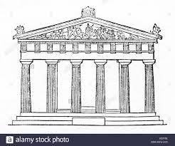 greek temple floor plan doric black and white stock photos u0026 images alamy