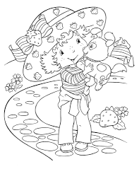 free printable strawberry shortcake coloring pages for kids in