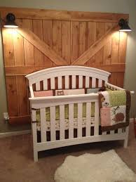 Delta Bentley Convertible Crib Rustic Woodland Nursery Barn Door Headboards Diy Barn Door And