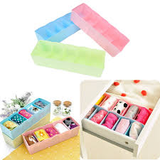 1pc bra necktie socks storage organizer plastic home storage box