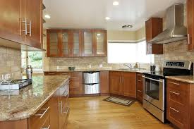 what color kitchen cabinets go with oak floors updated ranch style home with views in montclair oak