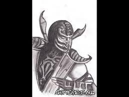 how to draw scorpion mortal kombat youtube