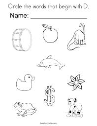 d letter words format