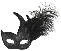 feather mask ornate colombina feather mask