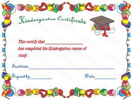 graduation diploma kindergarten graduation certificate template kindergarten