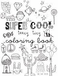 printable mini coloring book tiny totem blog