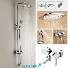 Bathroom Shower Set Wasourlf Bathroom Shower Set Brass Chrome Wall Mounted Shower