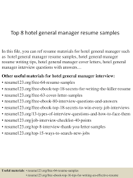 general objectives for resume top8hotelgeneralmanagerresumesamples 150425021819 conversion gate01 thumbnail 4 jpg cb 1429946348