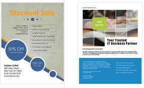 microsoft flyer template brochure template microsoft word