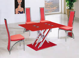 transform red dining room table creative interior design for