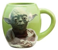 amazon com vandor 99068 star wars yoda 18 oz oval ceramic mug