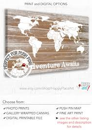 Personalised World Map Pinboard by Customised Canvas World Map Travel Map Push Pin Travel Map