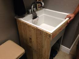 Laundry Room Utility Sinks Upcycled Pallet Utility Sink Pinteres