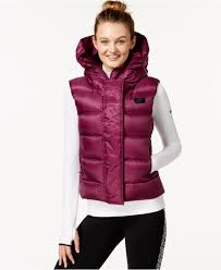 nike uptown 550 hooded down vest in red lyst