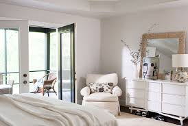 White Bedroom Interior Design Fresh White Bedroom With A Woven Frame Mirror And Modern Furniture