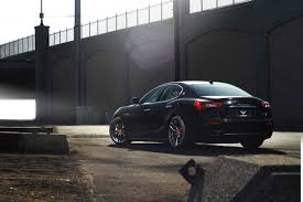 satin black maserati maserati ghibli gets new shoes with the carbon graphite vorsteiner