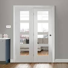 white shaker 4 pane room divider doors easi frame white room