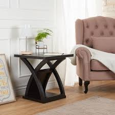 Modern Furniture End Tables by Furniture Of America Barkley Modern Espresso X Base End Table