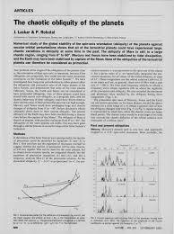 bureau de change 75014 the chaotic obliquity of the planets pdf available
