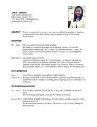 sle resume format for ojt tourism students quotes exle resume for ojt business administration students resume