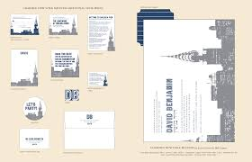 Direction Cards For Wedding Invitations Charmed New York Skyline Invitations