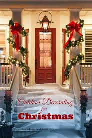 Outdoor Lighted Garland Outdoor Christmas Decorating Ideas For An Amazing Porch