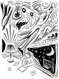 dreaming doodle coloring page free printable coloring pages