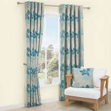 Floral Lined Curtains Araxa Duck Egg Taupe Floral Woven Eyelet Lined Curtains W 228