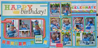 birthday photo album a birthday layout and mini album may arts wholesale ribbon company