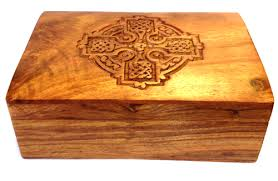 wooden celtic cross cross wooden box 4x6