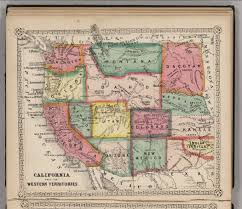Map Of Western United States California And The Western Territories David Rumsey Historical