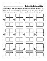 double digit addition writing and domino activity tpt