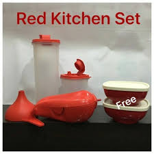 Red Kitchen Set - tupperware red kitchen set at rs 1110 set kitchen sets id