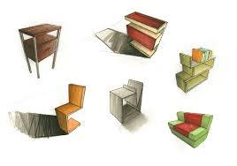 furniture sketches by lla te on deviantart
