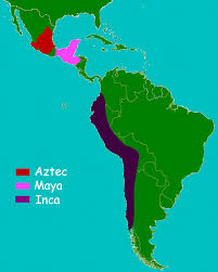 mayan empire map history for aztecs and inca