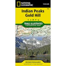 Colorado Trail Map by 102 Indian Peaks Gold Hill Trail Map National Geographic Store