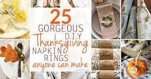 25 gorgeous diy thanksgiving napkin rings to make