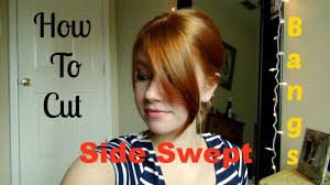 god cuts for fine hair no bangs how to cut your own side swept bangs youtube