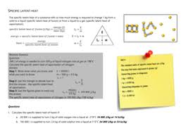 specific latent heat calculations by jlmorgan100 teaching