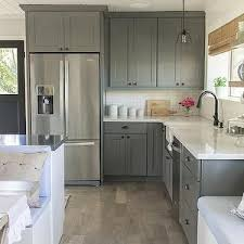 White Cabinets With Grey Quartz Countertops Design My Kitchencorner Design My Kitchen Cabinets Painted Green