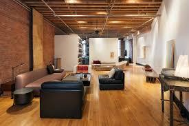 livingroom soho manhattan ny soho artist loft industrial living room