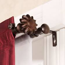 outdoor cute home depot curtain rods double rod set interior decor ideas with brackets and red