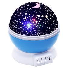 amazon com lizber baby night light moon star projector 360
