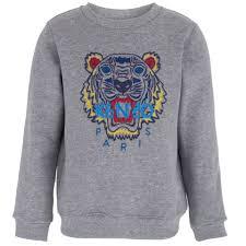 kenzo kids grey marl tiger sweatshirt alexandalexa