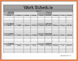 5 monthly employee schedule template cv template