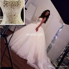 princess wedding dresses with bling 2015 princess wedding dresses bling bling crystals beaded